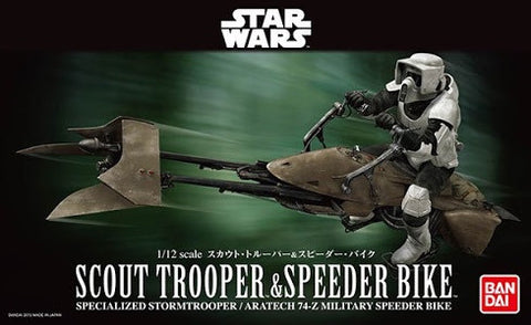 1/12 Star Wars Scout Trooper and Speeder Bike