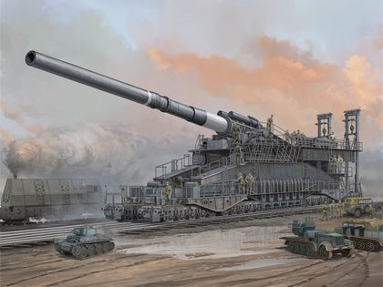 X0001 1/72 German 80cm Railway Gun Dora
