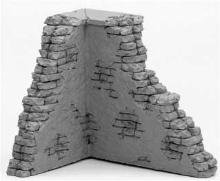 1/32 Diorama Resin Brick & Stucco Wall Ruin MSM 52F