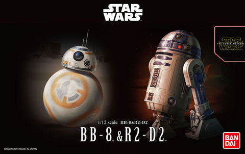 X0507 1/12 Star Wars BB-8 & R2-D2