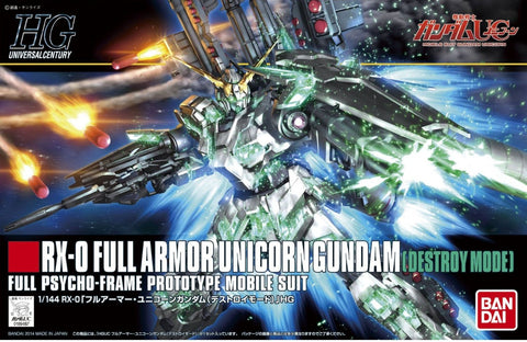 X0917 1/144 HGUC #178 RX-0 Full Armour Unicorn Gundam Destroy Mode