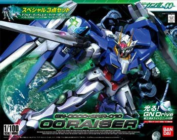 1/100 HG 00 Raiser Gundam with GN Drive LED Set
