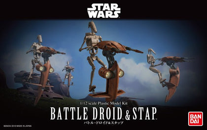1/12 Star Wars Battle Droid and Stap