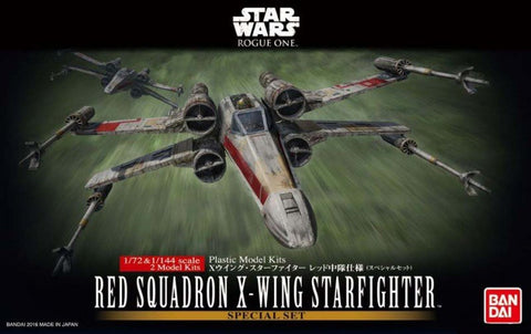 X0685 1/72 & 1/144 Star Wars Red Squadron X Wing Starfighter Special Set