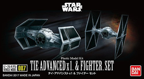 Star Wars Tie Advanced x1 & Fighter Set Mini Kit Series 007
