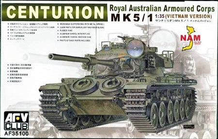 X5799 Pre Owned 1/35 Centurion Mk 5/1 Vietnam Version Special Parts First Edition Only