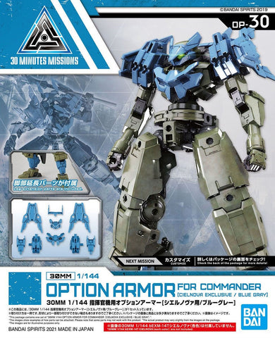 X6217 1/144 30MM Option Armour for Commander Cielnova Exclusive Blue Gray