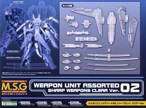X1159 MSG Weapon Unit Assorted #02 Sharp Weapons Clear Version