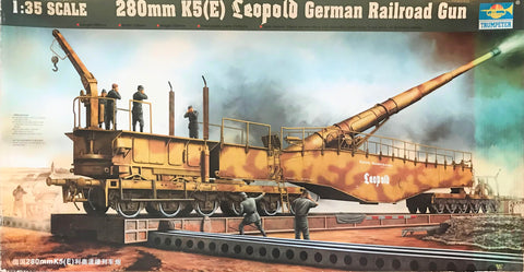 X5597 Pre Owned 1/35 280mm K5(E) Leopold German Railroad Gun