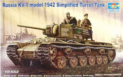 X5843 Pre Owned 1/35 Russia KV-1 model 1942 Simplified Turret Tank