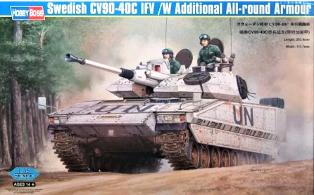 X5851 Pre Owned 1/35 Swedish CV90-40C IFV with Additional All Round Armour