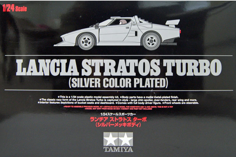 X5707 1/24 Lancia Stratos Turbo Silver Colour Plated
