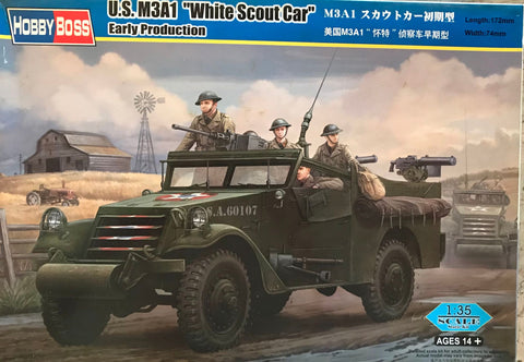 X5604 Pre Owned 1/35 US M3A1 White Scout Car Early Production