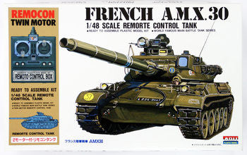 X0829 1/48 Remocon Twin Motor French AMX 30 Remote Control Tank