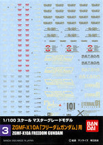 1/100 Gundam Decal Set #3 ZGMF-X10A Freedom Gundam
