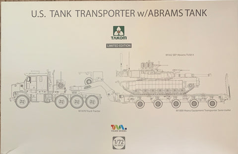 X6310 Pre Order 1/72 US Tank Transporter w/ Abrams Tank No. 5002X Limited Release