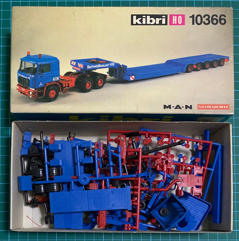Pre Owned Lot 1693 - HO Kibri 10366 MAN Scheuerle Truck & Trailer