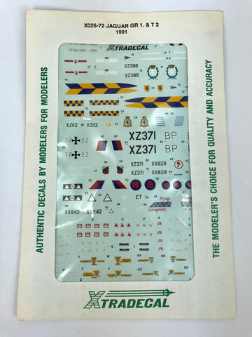 PX0028 1/72 Jaguar GR1 & T2 1991 Decal Set