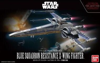 X0683 1/72 Star Wars Blue Squadron Resistance X Wing Fighter