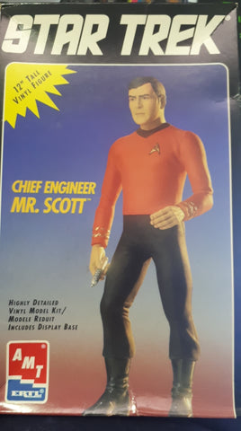 "X3925 Pre Owned 12"" Star Trek Chief Engineer Mr Scott Vinyl Kit"