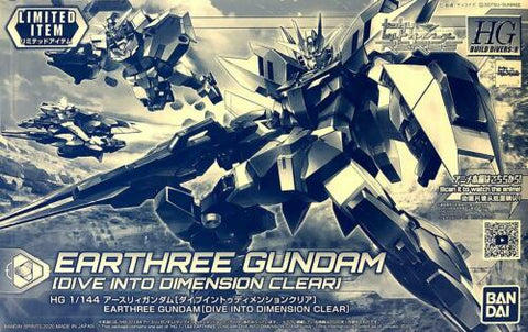 X6824 P Bandai 1/144 HGBD:R Earthree Gundam Dive into Dimension Clear