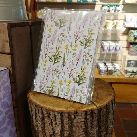 Woodland Flowers Notebook on Display at a Stockist