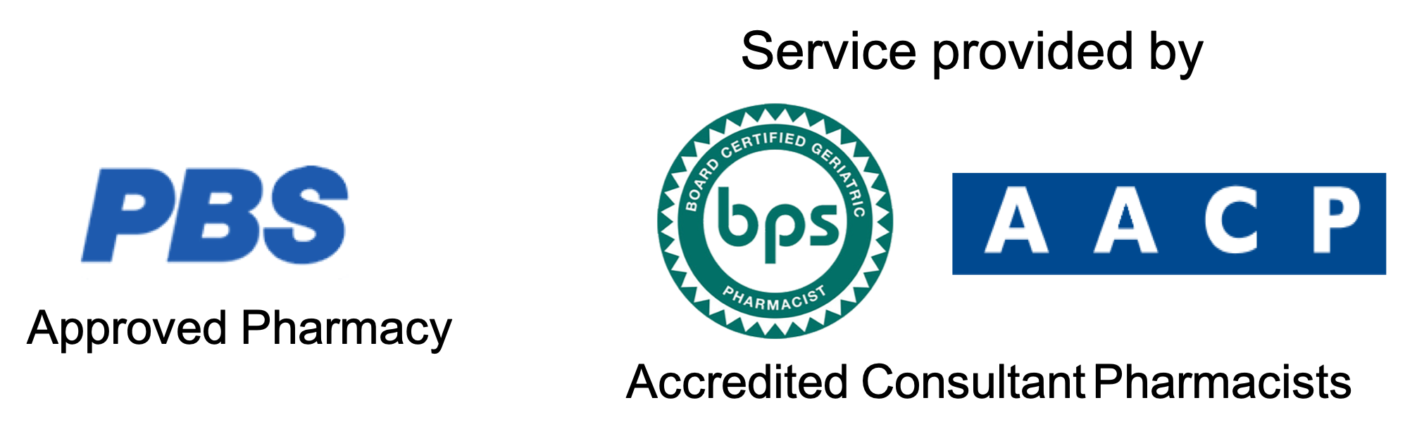 PBS Approved Pharmacy, BPS AACP Accredited Consultant Pharmacists