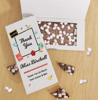 Thank You Teacher Milk Chocolate Card - Javagifts