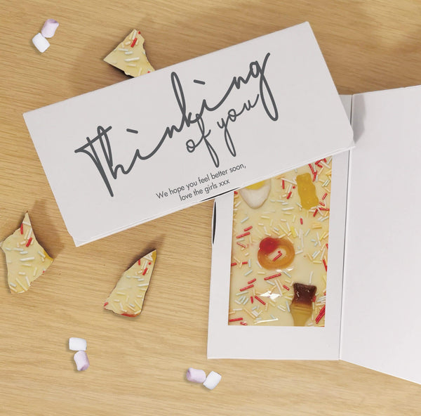 Thinking Of You White Chocolate Card - Javagifts