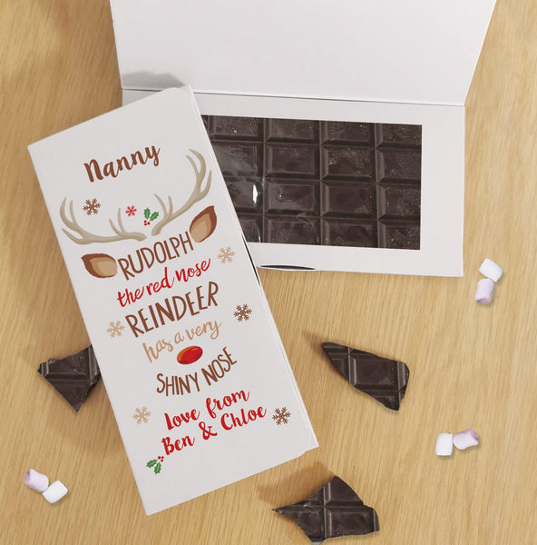 Rudolph Dark Chocolate Card - Javagifts