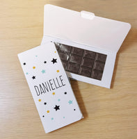 Star Dark Chocolate Card - Javagifts