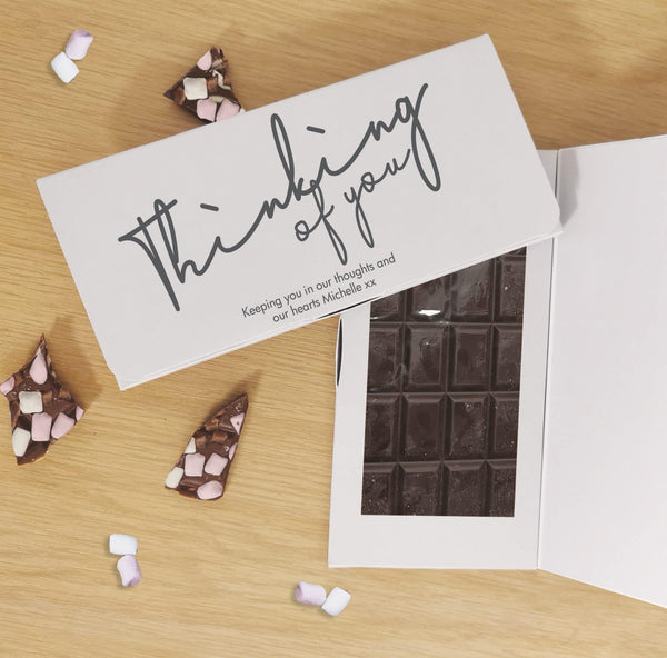 Thinking Of You Dark Chocolate Card - Javagifts