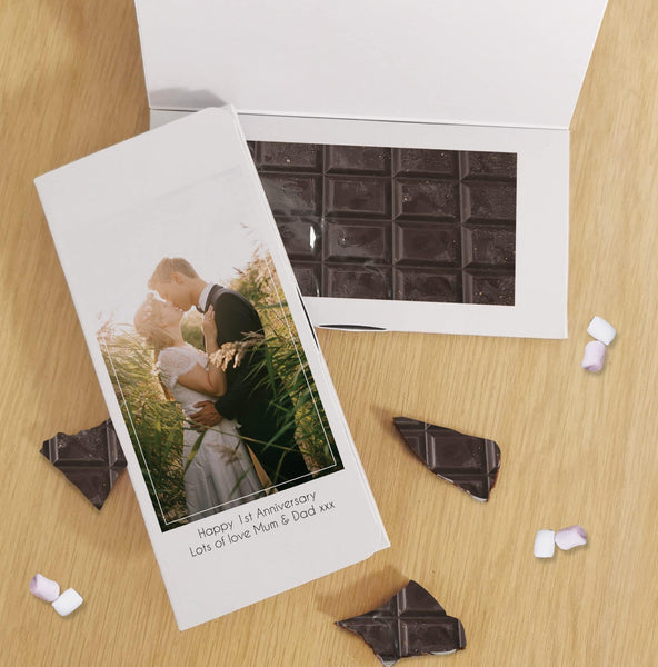 Photo Upload Dark Chocolate Card - Javagifts