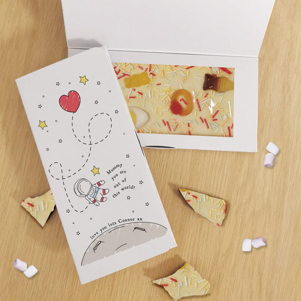 Out Of This World White Chocolate Card - Javagifts