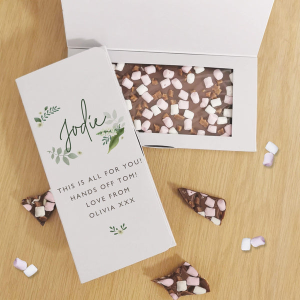 Floral Milk Chocolate Card - Javagifts
