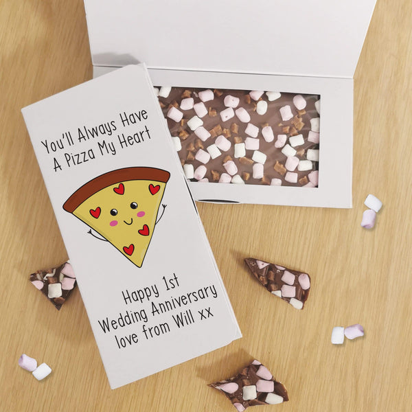 Pizza My Heart Milk Chocolate Card - Javagifts