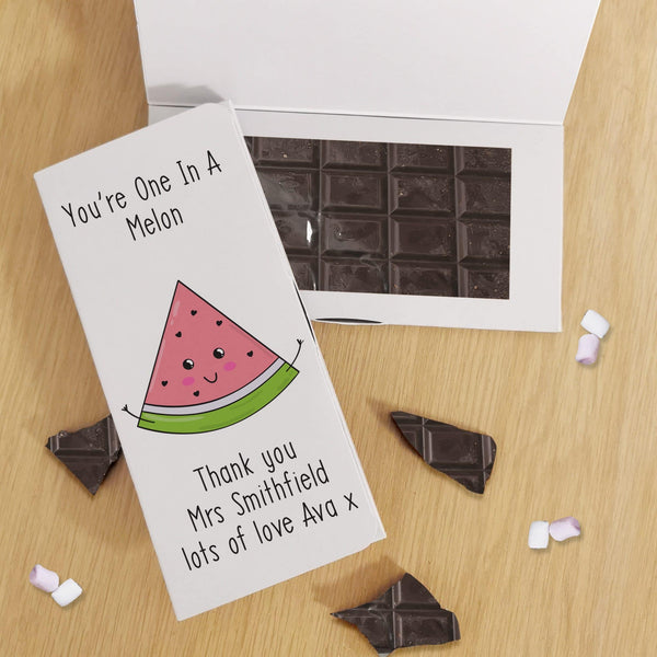 One In A Melon Dark Chocolate Card - Javagifts