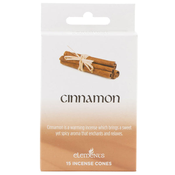 12 Packs of Elements Cinnamon Incense Cones - Javagifts