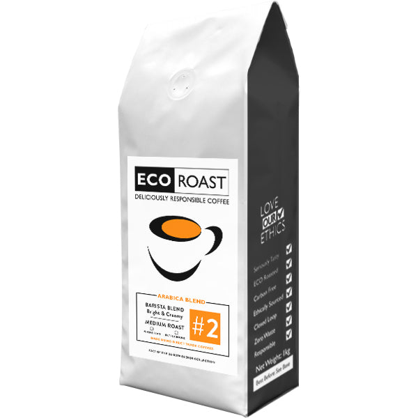 1kg Eco Roast Blend #2 - Whole Bean - Javagifts