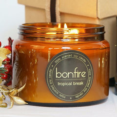 Bonfire Candle Co 450g Tropical Break Soy Christmas Candle