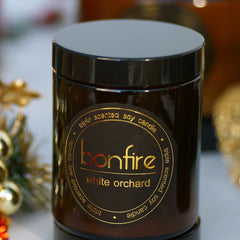 Bonfire Candle Co 150g White Orchard Soy Christmas Candle