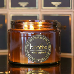 Bonfire Candle Co 450g White Orchard Soy Scented Candle