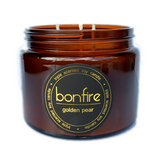 Bonfire Candle Co Soy Wax Golden Pear Scented Candle