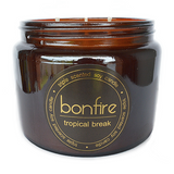 Bonfire Candle Co Soy Wax Tropical Break Scented Candle