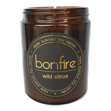 Bonfire Candle Co Soy Wax Wild Citrus Scented Candle