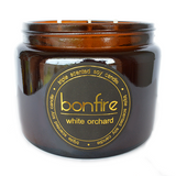 Bonfire Candle Co Soy Wax White Orchard Scented Candle