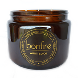 Bonfire Candle Co Soy Wax Warm Spice Scented Candle