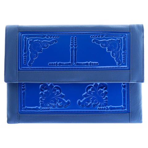 Envelope Clutch Blue