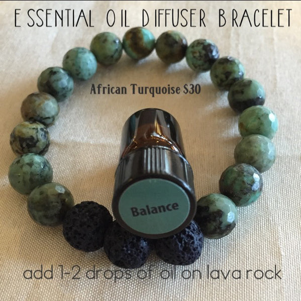 Essential Oil Diffuser Bracelet African Turquoise