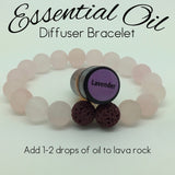 Essential Oil Diffuser Bracelet Matte Rose Quartz